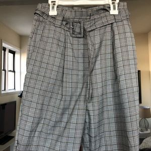 Forever 21 Pants - Plaid pants with belt